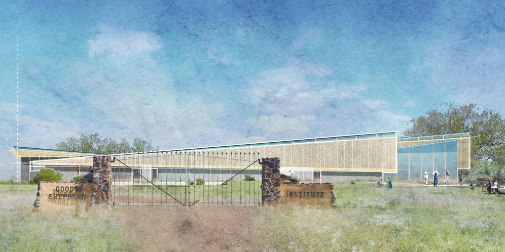 Exterior rendering of the Good Shepherd Conservancy