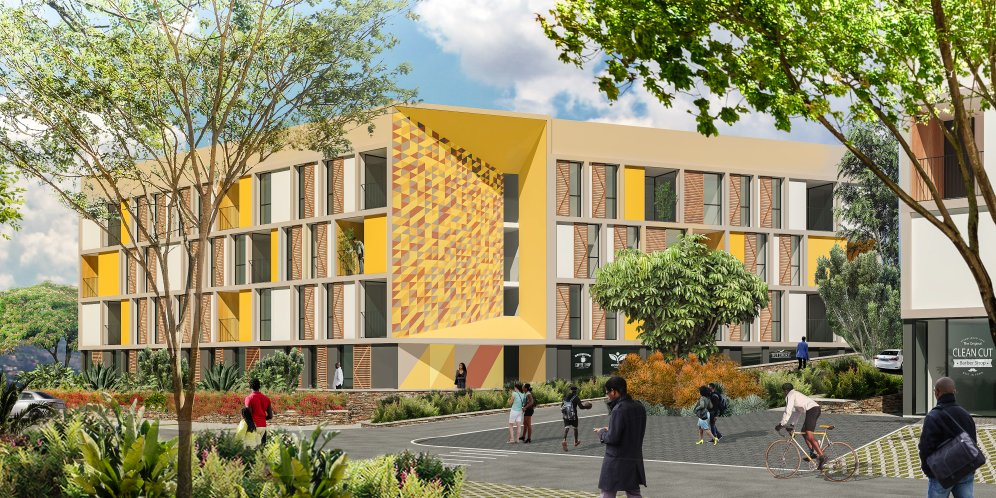 A render of the Masaka Affordable Housing