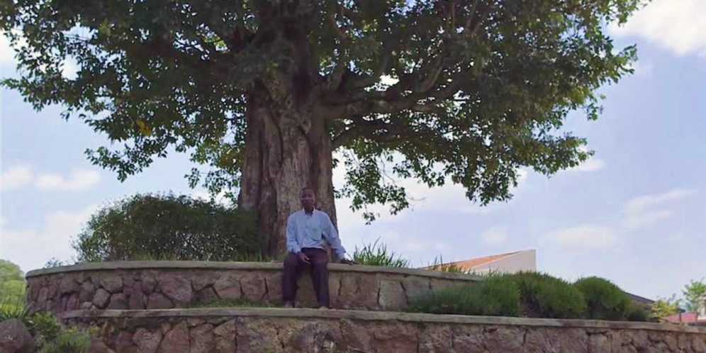 Photo of gardener Jean Baptiste from Nziza Cyane documentary