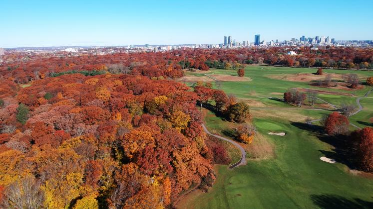 Aerial of Franklin Park. PC: Reed Hilderbrand