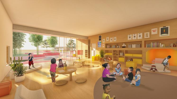 Classroom at the Trung Nguyen Kindergarten