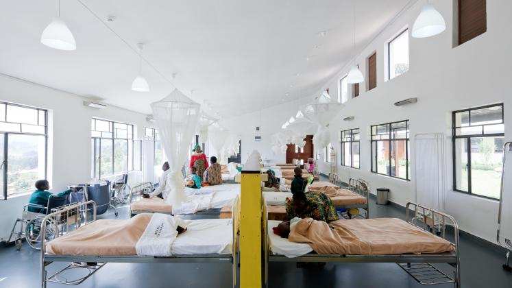 Photo of Butaro District Hospital, Photo by Iwan Baan, Hospital Room and Patient Area