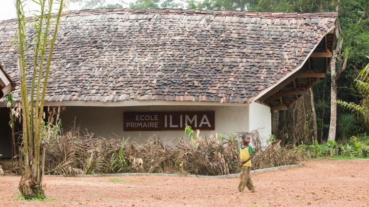 Photo of Ilima Primary School, A view of the school's sign near the entrance to the building