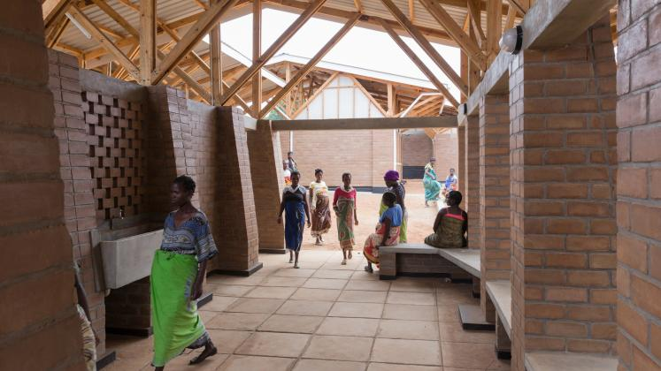 Photo of Maternity Waiting Village, Photo by Iwan Baan, Maternity Waiting Village hallway