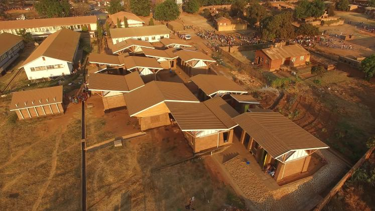 Photo of Maternity Waiting Village, Photo by Iwan Baan, Aerial view of the Maternity Waiting Village