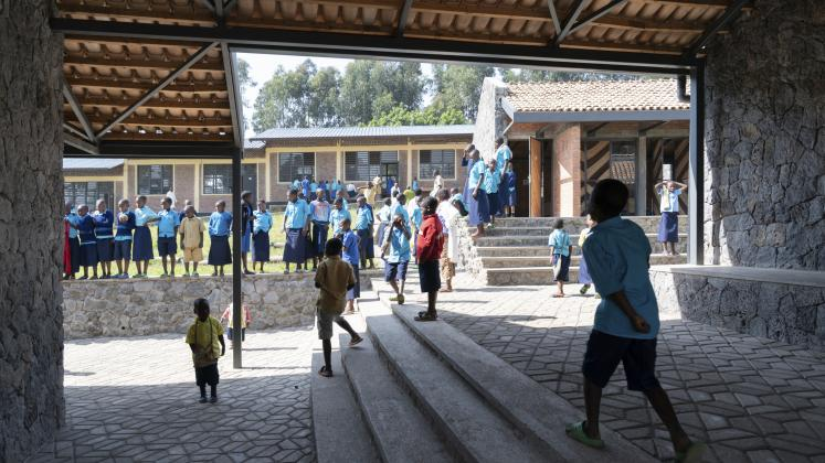 Breezeway at Ruhehe Primary School, Copyright Iwan Baan