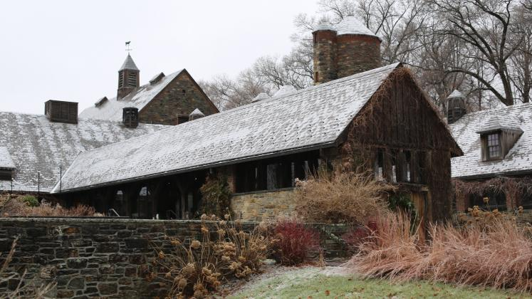 Exterior of the Stone Barns Building