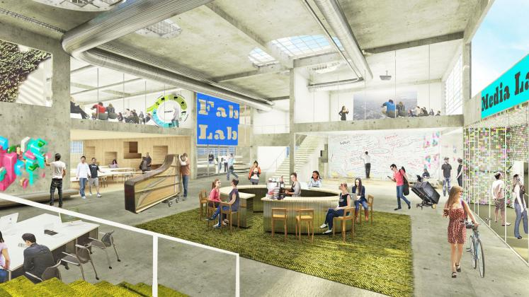 Rendering of Colorado College Innovation Lab