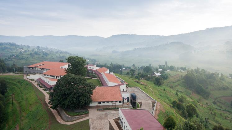 Photo of the Butaro Hospital, Photo by Iwan Baan, Aerial View of Hospital Campus