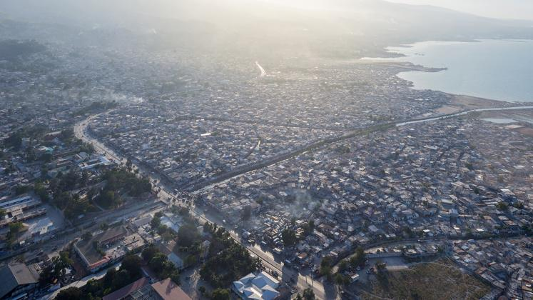 Photo of Gheskio Cholera Treatment Center, Photo by Iwan Baan, Site View of Port-au-Prince Coast