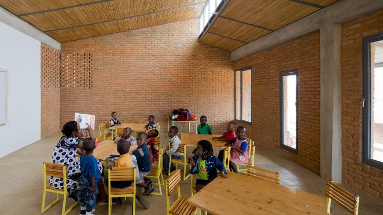 Photo of the Umubano Primary School, Photo by Iwan Baan, Early Childhood Education Classroom