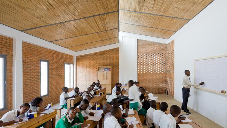 Photo of the Umubano Primary School, Photo by Iwan Baan, Primary School Classroom