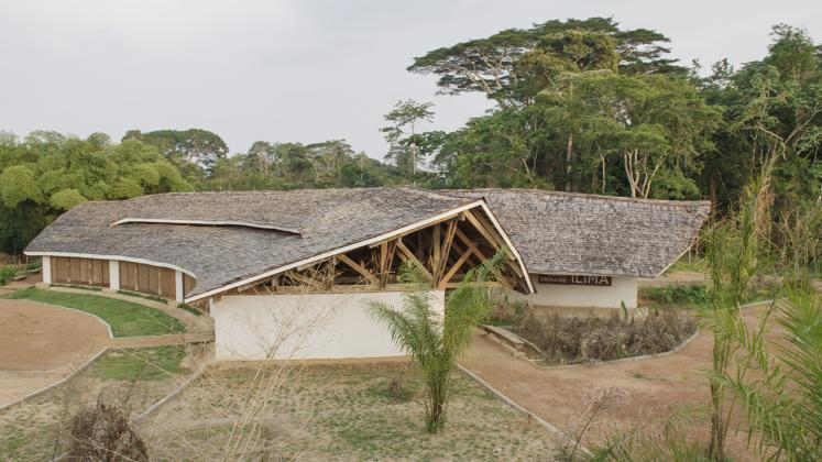 Photo of Ilima Primary School, View of whole building highlighting the pitched roof and structure