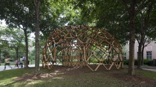 Photo of Design Biennial Boston, Photo by Messinger, View of the site and pavilion