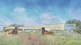 Exterior rendering of the Good Shepherd Institute