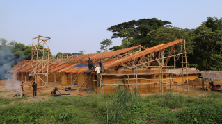 Photo of construction from the Beyond Sustainability documentary