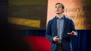 Photo: Michael Murphy giving his TED Talk